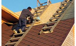Монтаж крыши из OSB 3