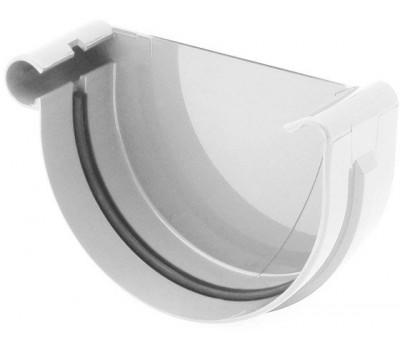 Заглушка ринвы водосточная Bryza левая 125 мм (белый)