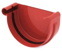 Заглушка ринвы водосточная Bryza левая 125 мм (красный)