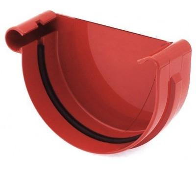 Заглушка Ринва водостічна Bryza ліва 125 мм (червоний)