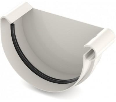 Заглушка Ринва водостічна Bryza права 125 мм (білий)