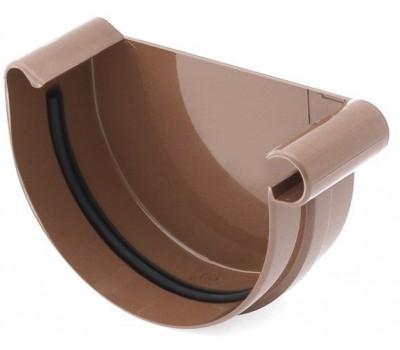 Заглушка Ринва водостічна Bryza права 125 мм (коричневий)