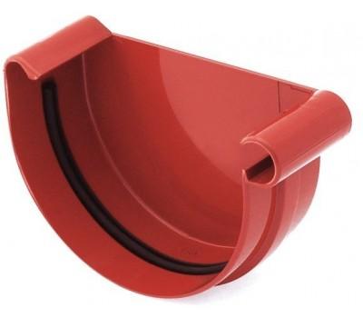 Заглушка ринвы водосточная Bryza правая 125 мм (красный)