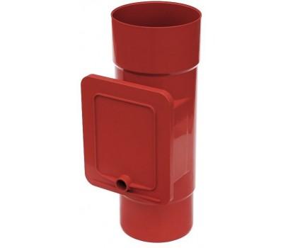Люк для чистки водостічний Bryza 110 мм (червоний)