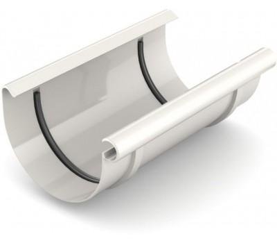 Муфта рівни водостічна Bryza 125 мм (білий)