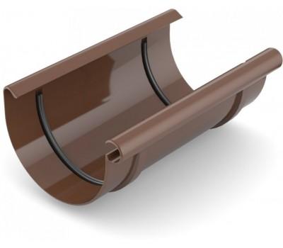 Муфта рівни водостічна Bryza 125 мм (коричневий)