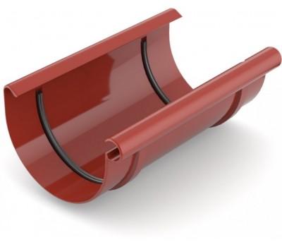 Муфта ривны водосточная Bryza 125 мм (красный)