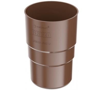 Муфта трубы водосточная Bryza 90 мм (коричневый)
