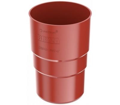 Муфта труби водостічна Bryza 90 мм (червоний)