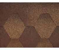 Плитка коньково-карнизная для битумной черепицы Акваизол (коричневая)