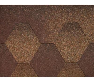 Плитка коньково-карнизна для бітумної черепиці Акваізол (коричнева)