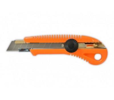 Нож с крутящимся фиксатором Favorit упрочненный (18 мм)