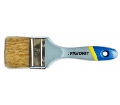Пензель флейцевий Favorit англійська 50 мм (дерев'яна ручка)