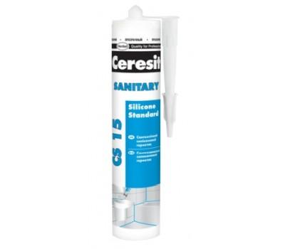 Герметик силиконовый Ceresit CS 15 сантехнический 280 мл (прозрачный)