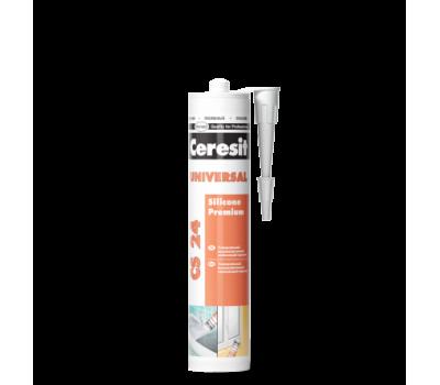 Герметик силиконовый Ceresit CS 24 эластичный 280 мл (прозрачный)