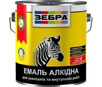 Эмаль Зебра ПФ-116 №12 белый гланцевый 0.9 кг