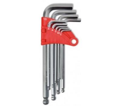 Набір ключів імбусових з кулею Technics Профі 2 - 10 мм (9 шт)