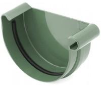 Заглушка ринвы водосточная Bryza правая 125 мм (зеленый)