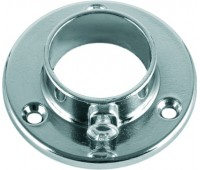 Держатель для трубы одежной круглой простой c шурупом 25 мм