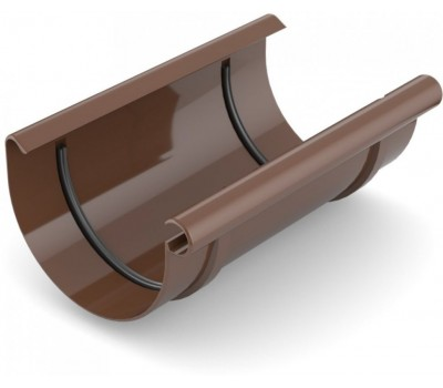 Муфта рівни водостічна Bryza 100 мм (коричневий)