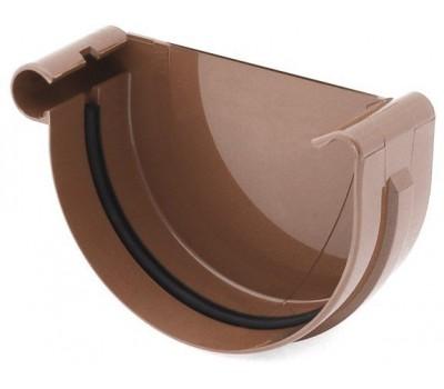 Заглушка ринвы водосточная Bryza левая 100 мм (коричневый)