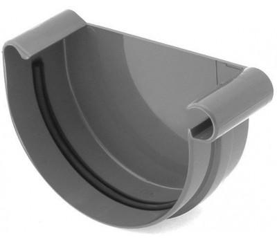 Заглушка ринвы водосточная Bryza правая 125 мм (графит)