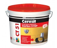 Краска Ceresit CT 51 интерьерная акриловая белый 10 л