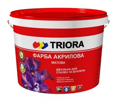 Фарба Triora інтер'єрна матова Triora біла 3 л