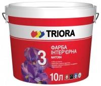 Краска интерьерная для стен и потолков матовая Triora белая (10 л)