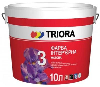 Фарба Triora інтер'єрна матова біла 10 л