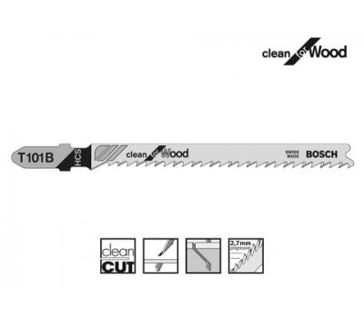 Полотно для лобзика Bosch c T-хвостовиком T101B