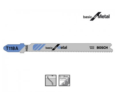 Полотно для лобзика Bosch c T -хвостовіком T118A