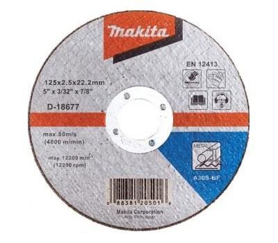 Круг отрезной Makita 125 x 22,2 мм