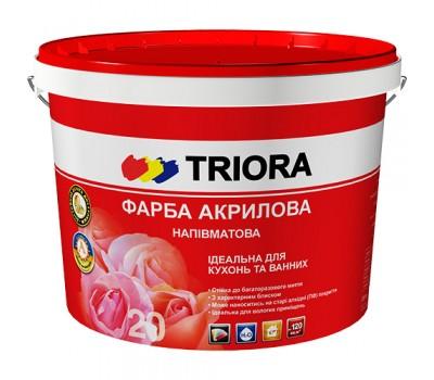 Краска Triora интерьерная полуматовая белый 3 л
