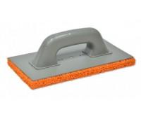 Терка пластмассовая Favorit с оранжевой губкой 270 x 130 мм