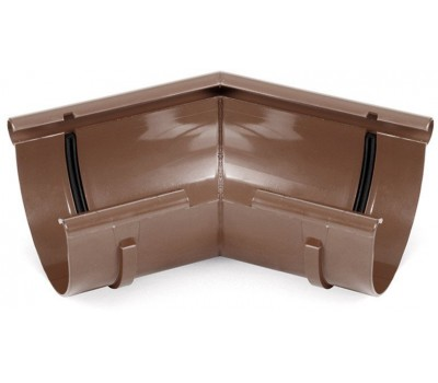 Угол внутренний водосточный Bryza произвольный 125 мм (коричневый)