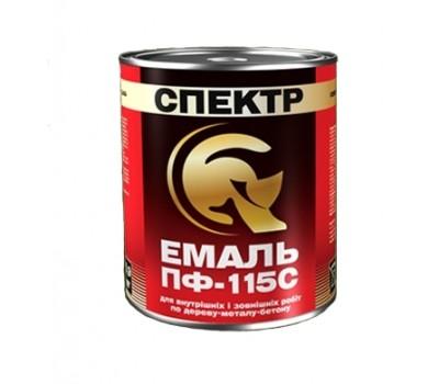 Эмаль Спектр ПФ-115С черный 0.9 кг