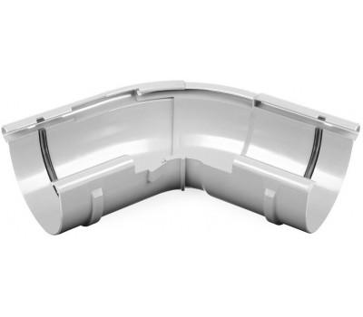 Угол внешний водосточный Bryza регулируемый 125 мм (белый)