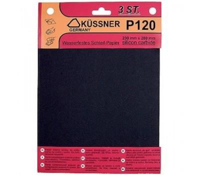 Бумага наждачная Kussner PW20 400 водостойкая (230 х 280 мм) 3 шт