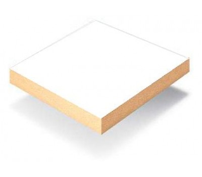 Плита МДФ ламинированная Kronospan 2620 x 2070 x 16 мм (110 Белый SM PL)