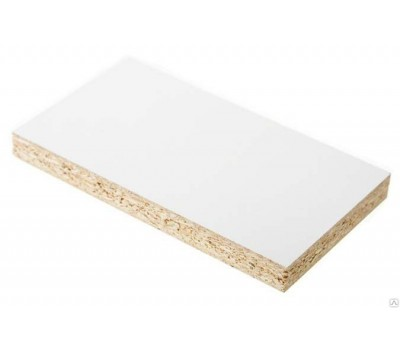 Плита ДСП ламинированная Kronospan 2750 x 1830 x 18 мм (0101 Белый фасадный SM)
