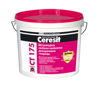 Штукатурка декоративная Ceresit CT 175 короед с зерном 2,0 мм 25 кг