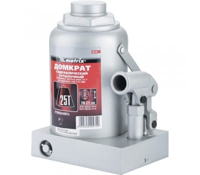 Домкрат гидравлический бутылочный Matrix 240 - 375 мм (25 т)