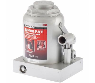 Домкрат гідравлічний пляшковий Matrix 240 - 370 мм (30 т)