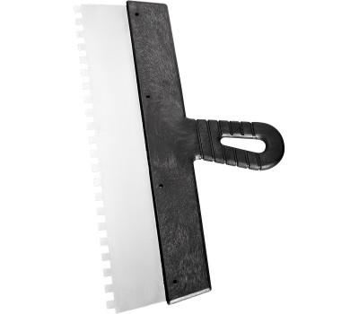 Шпатель Сибртех c пластиковой ручкой 150 мм (зуб 10 x 10 мм)