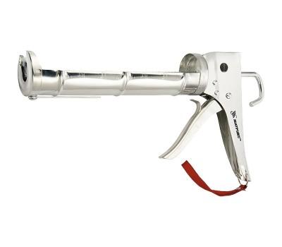 Пистолет для герметика Matrix полуоткрытый хромированный 310 мл