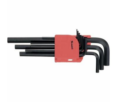 Набор ключей имбусовых Matrix удлиненные HEX 1,5 - 10 мм (9 шт)