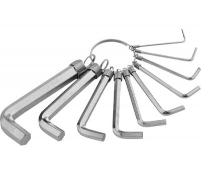 Набор ключей имбусовых Sparta HEX 1,5 - 10 мм (10 шт)