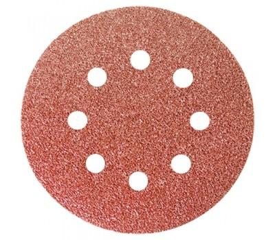 Круг абразивный перфорированный Matrix на ворсовой основе под липучку P180 125 мм (5 шт)