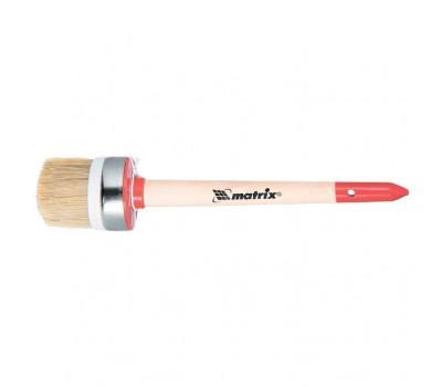 Кисть круглая Matrix Профи натуральная щетина №8 35 мм (деревянная ручка)